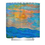 Wildflowers By A Blue Ridge Sunset Shower Curtain
