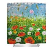Wildflowers Field Shower Curtain