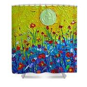 Wildflowers Meadow Sunrise Shower Curtain