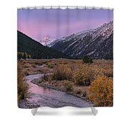 Wildhorse Creek Autumn Sunrise Shower Curtain