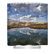 Wildhorse Lake Reflections Shower Curtain