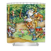 Wildlife Party Shower Curtain