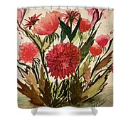 Wildly Red Shower Curtain