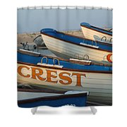 Wildwood Crest Nj Lifeboats Shower Curtain
