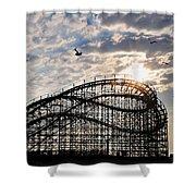 Wildwood Roller Coaster Shower Curtain