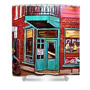 Wilenskys Cafe On Fairmount In Montreal Shower Curtain
