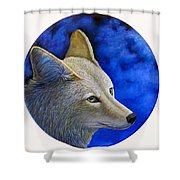 Wiley Coyote Shower Curtain by Brian  Commerford