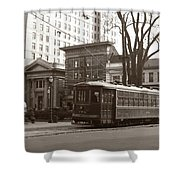 Wilkes Barre Pa Public Square Oct 1940 Shower Curtain