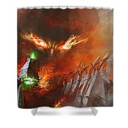 Will Of A Tyrant Shower Curtain
