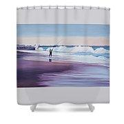 Will Rogers Beach Shower Curtain