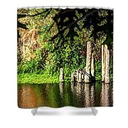 Willamette River Reflections 3783 Shower Curtain