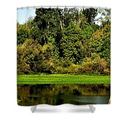 Willamette River Reflections 3813 Shower Curtain