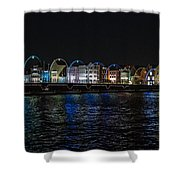 Willemstad Curacao At Night Shower Curtain