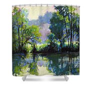 Willeo Park Misty Shower Curtain