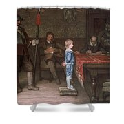 William Frederick Yeames - And When Did You Last See Your Father 1878 Shower Curtain