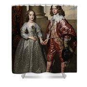 William II, Prince Of Orange, And His Bride, Mary Stuart Shower Curtain