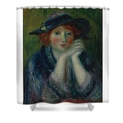 William J. Glackens 1870-1938 1870 - 1938 Portrait Study Of An Artist's Model Shower Curtain