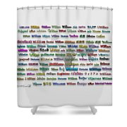 William Shower Curtain
