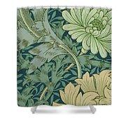 William Morris Wallpaper Sample With Chrysanthemum Shower Curtain