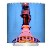 William Penn - City Hall In Philadelphia Shower Curtain by Bill Cannon