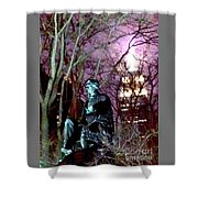 William Seward Statue And Empire State Bldg With Trees Shower Curtain