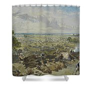 William Simpson, 1823-1899, British, The Governor-general's And Commander Shower Curtain