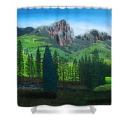 Williams Creek Shower Curtain