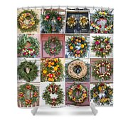 Williamsburg Christmas Collage Squared 3 Shower Curtain