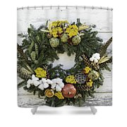 Williamsburg Wreath 09b Shower Curtain