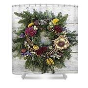 Williamsburg Wreath 10b Shower Curtain