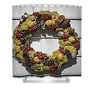 Williamsburg Wreath 29 Shower Curtain