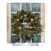 Williamsburg Wreath 37 Shower Curtain