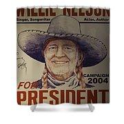 Willie For President Shower Curtain
