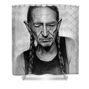 Willie Nelson Shower Curtain