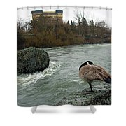 Willie Willey Rock - Riverfront Park - Spokane Shower Curtain
