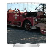 Willig Collection 6 Fire Truck Shower Curtain