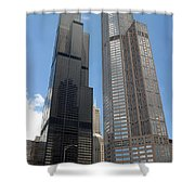 Willis Tower Aka Sears Tower And 311 South Wacker Drive Shower Curtain
