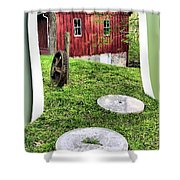 Williston Mill And Grist Wheels Shower Curtain