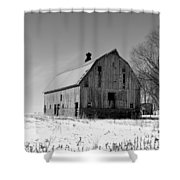 Willow Barn Bw Shower Curtain