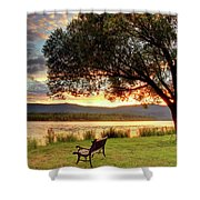 Willow Bay Shower Curtain