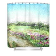 Willow-herb Shower Curtain