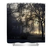Willow In Fog Shower Curtain