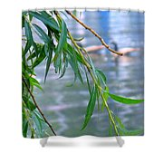 Willow Over The Water Shower Curtain