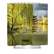 Willow Tree In Liiang China II Shower Curtain