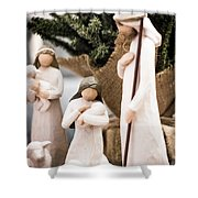 Willow Tree Nativity At Christmas Shower Curtain