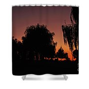 Willow Tree Silhouettes Shower Curtain