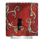 Willowing Tree Shower Curtain