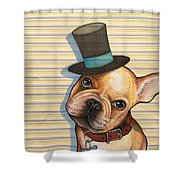 Willy In A Top Hat Shower Curtain