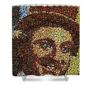 Willy Wonka Fizzy Lifting Bottle Cap Mosaic Shower Curtain