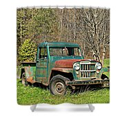 Willys Jeep Pickup Truck Shower Curtain